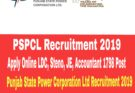 PSPCL Recruitment 2019 : LDC, Steno, JE, 1798 Post