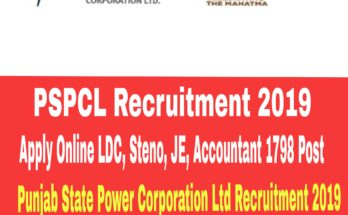 PSPCL Recruitment 2019 : LDC, Steno, JE, 1798 Post