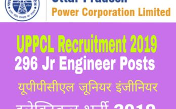 UPPCL Recruitment 2019 : 296 Jr Engineer Posts