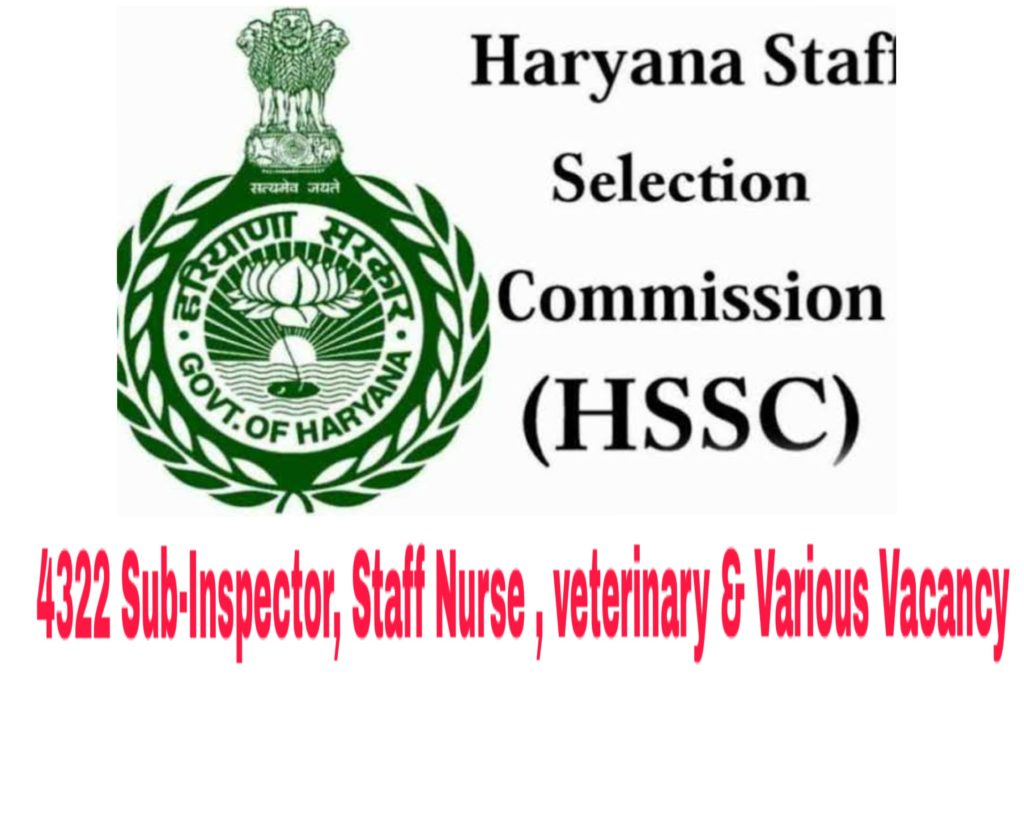HSSC Haryana Recruitment 2019