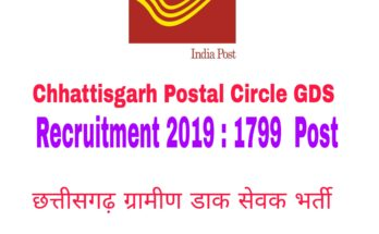 Chhattisgarh Postal Circle GDS Recruitment 2019