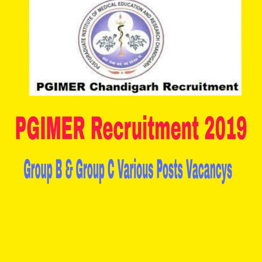 PGIMER Recruitment 2019