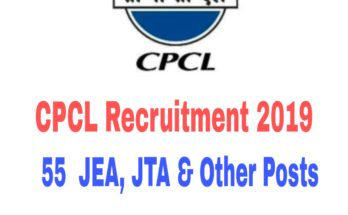 CPCL Recruitment 2019