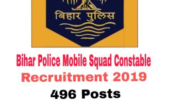 Bihar Police Recruitment 2019
