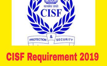 CISF ASI Recruitment 2019
