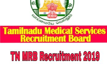 TN MRB Recruitment 2019